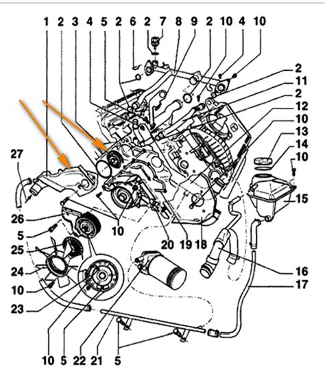 V6 Engine Diagram With Name by Where Is The Thermostat In 2001 Vw Passat Heater In Car