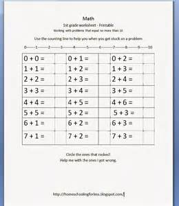 Free Printable First Grade Math Worksheets