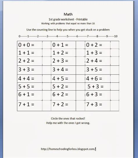 1st Grade Homeschool Worksheets Worksheets For All  Download And Share Worksheets  Free On
