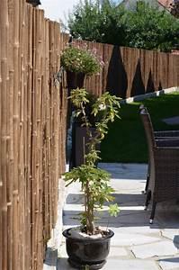 Sichtschutz ATY NIGRA Bambus Gartenzaun Windschutz