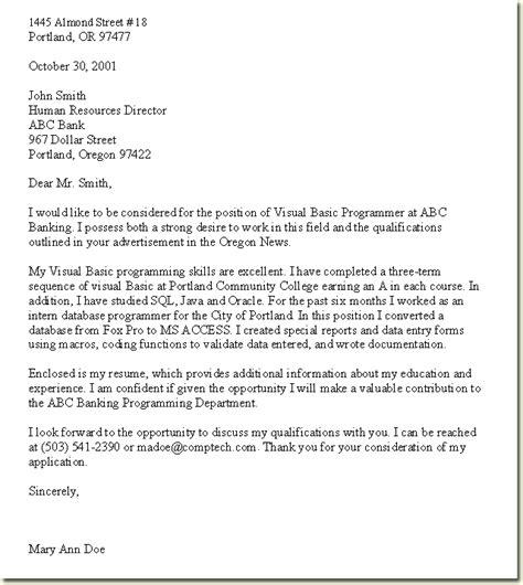job application letter template  pandora squared