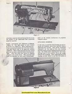Kenmore 120 490 Sewing Machine Service Manual
