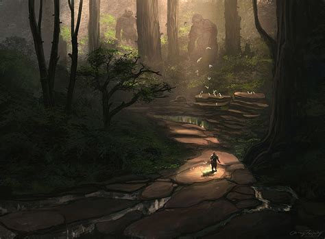 jungle environment paintings for concept inspiration