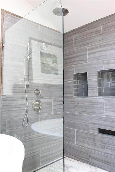 Designer Bathroom Tile by 12x24 Tile On Vertical Shower Tile Porcelain