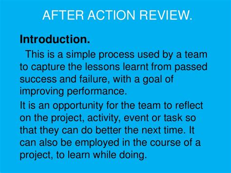 after action review after review