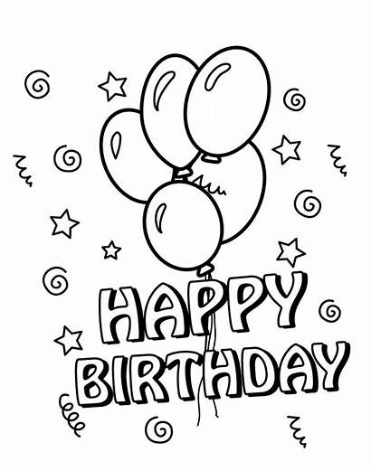 Coloring Birthday Happy Pages Printable Simple