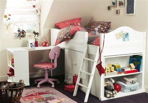chambre fille lit mezzanine le lit mezzanine avec bureau est l 39 ameublement créatif