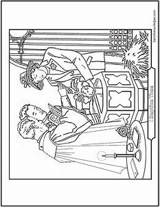 Baptism Coloring Page  Priest  Sacrament  Godparents