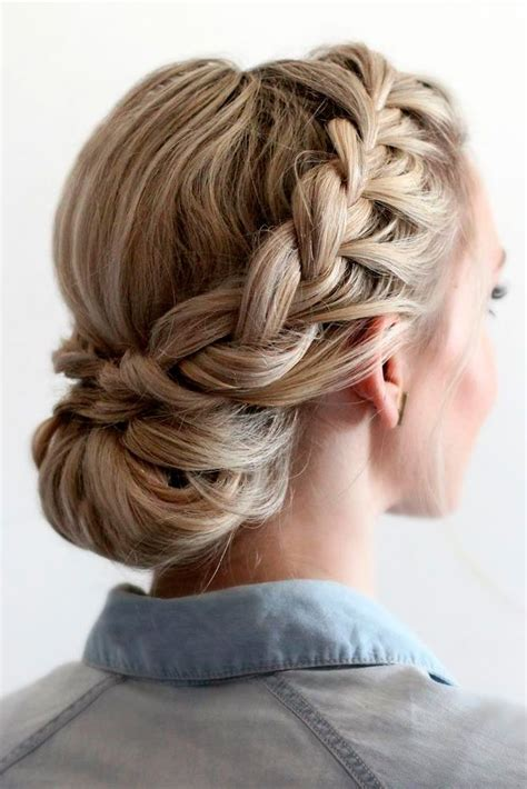 braided updo ideas  pinterest formal