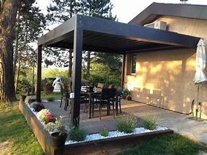 Lame De Terrasse Bricomarché : construire une pergola bioclimatique sur une terrasse en bois ~ Dailycaller-alerts.com Idées de Décoration