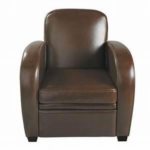 Fauteuil Cuir Maison Du Monde : fauteuil club en cuir chocolat fauteuil club fauteuils et maison du monde ~ Teatrodelosmanantiales.com Idées de Décoration