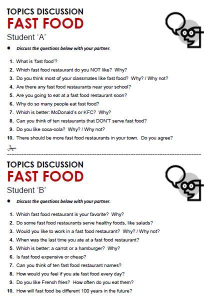 fast food   topics