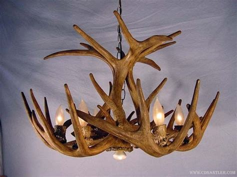 faux deer antler chandelier faux whitetail deer antler chandelier one downlight