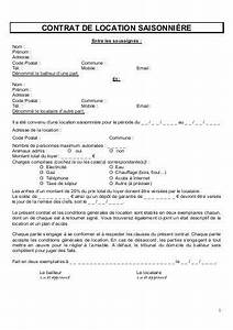 exemple contrat de location meuble de tourisme document With exemple de contrat de location meuble
