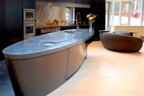 oval kitchen island 14 concrete countertops that prove this material suits any 1327