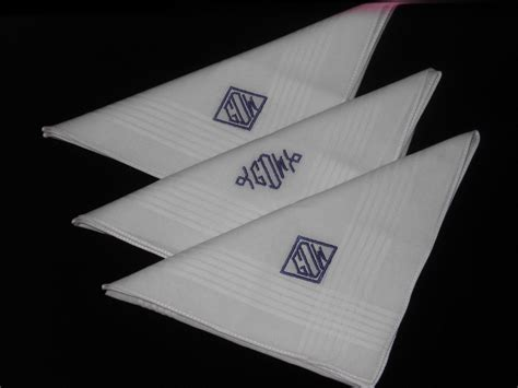 monogrammed handkerchiefs men 2 letter set of 3 monogrammed handkerchiefs men set of 3