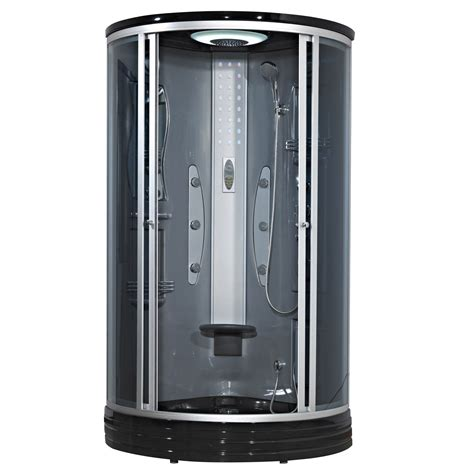 cabine de hydromassante thermostatique 1 4 de cercle 90x90 cm leroy merlin