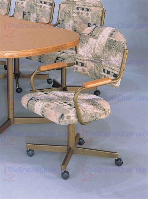 Chromcraft Core C136 Swivel Tilt Caster Arm Chair