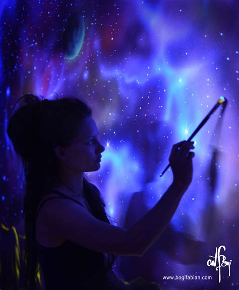 black light paint artist creates beautiful blacklight paintings that