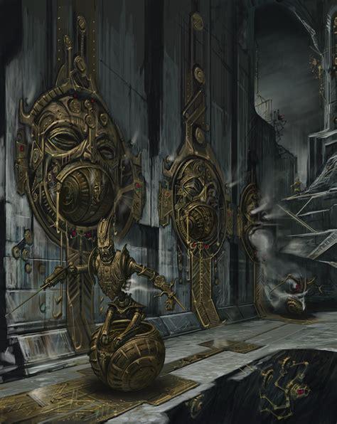 Dwemer Ruins Concept Art Games Skyrim Elderscrolls