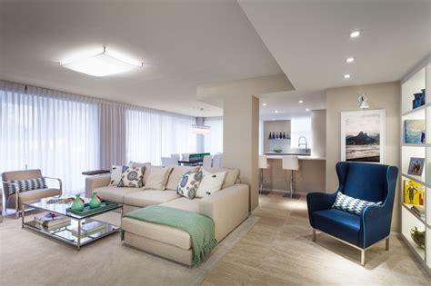 ocean drive condo contemporary living room miami