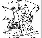 Pirate Coloring Pages Ship Printable Adult Drawing Realistic Template Easy Getcolorings Brilliant Getdrawings sketch template