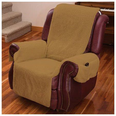 Recliner Chair Walmart by Recliner Chair Cover W Armrests And Pockets Camel One