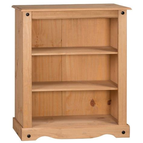 Small Low Bookcase by Corona Mexican Pine Small Low 2 Shelf Bookcase Home Done