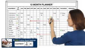 Monthly Staff Schedule Template Excel 12 Month Preventive Maintenance Planner