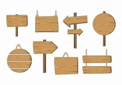Sign Board Wooden Vector Madeira Wood Vectors