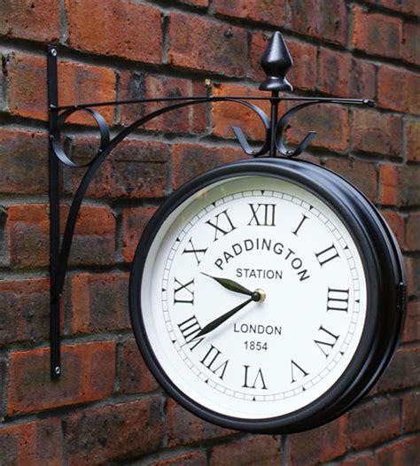 paddington station outdoor bracket wall clock garden