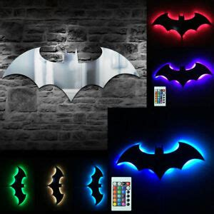 batman logo mirror wall light bat symbol logo