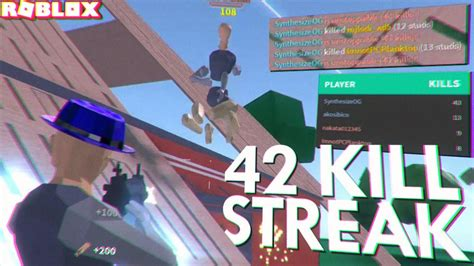 longest kill streak   strucid roblox