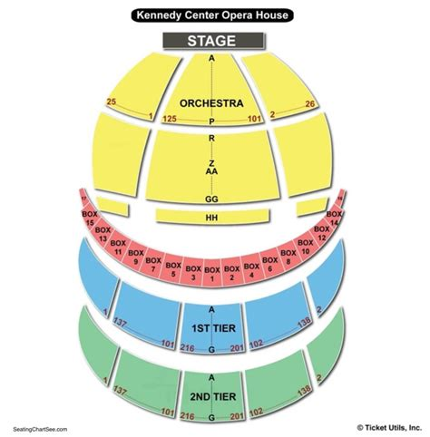 Kennedy Center Seating Chart Kennedy Center Opera House