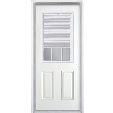 exterior door with blinds shop masonite blinds and grilles between the glass left