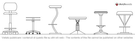 Sgabelli Bar Dwg by Sgabelli 2d Sgabello Dwg Stools Drawings