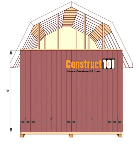 10x12 gambrel storage shed plans with porch shed plans 10x12 gambrel shed construct101