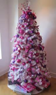 decorating for the holidays with purple and pink purple holidays and christmas tree