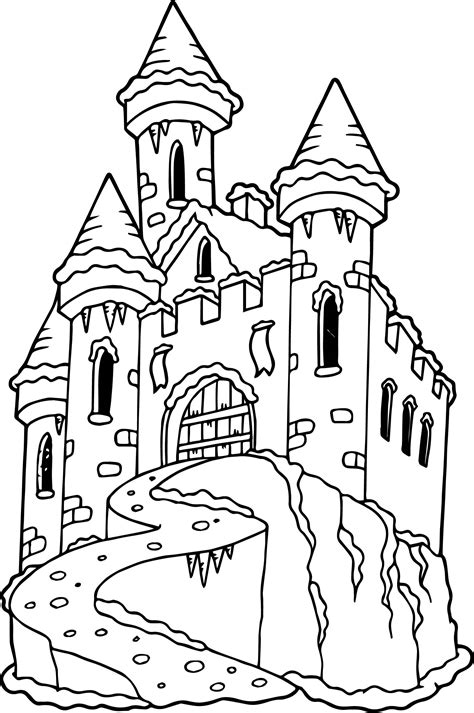 frozen castle coloring page wecoloringpagecom