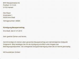 Bausparvertrag Kündigung Durch Bausparkasse : bausparvertrag k ndigen mit cleverer mustervorlage ~ Lizthompson.info Haus und Dekorationen