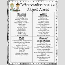 Differentiation Across The Subject Areas  Fired Up In Fifth!  Pinterest Differentiation