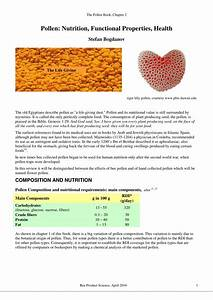 Pdf  Pollen  Nutrition  Functional Properties  Health