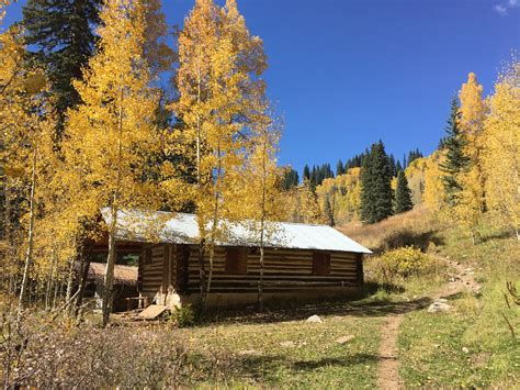 This old log cabin is the property of the San Juan