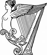 Harp Drawing Clipart Celtic Irish Coloring Pages Transparent Instruments Musical Line Results Getdrawings Lyre Clipartmag Pinclipart sketch template
