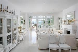 Livingroom Interior Design White Luxury House By The Sea