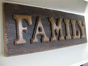 wooden letter family sign crafts by amanda With family wood letters