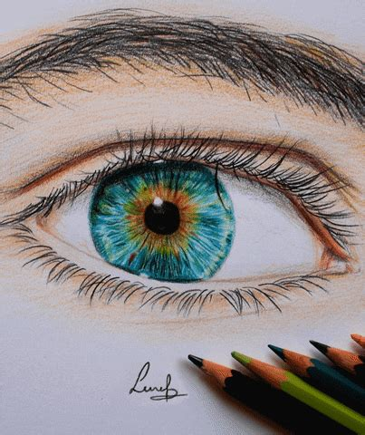 blue eyes art gif find share  giphy