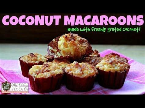 fresh coconut macaroons mrsgalangs kitchen  ep