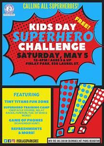 Kids, Day, Superhero, Challenge, At, Finlay, Park
