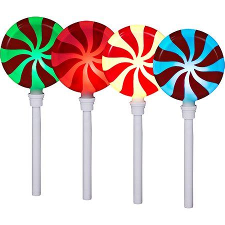 tall christmas light stakes 18 quot x 6 quot wide lollipops light show pathway stakes walmart